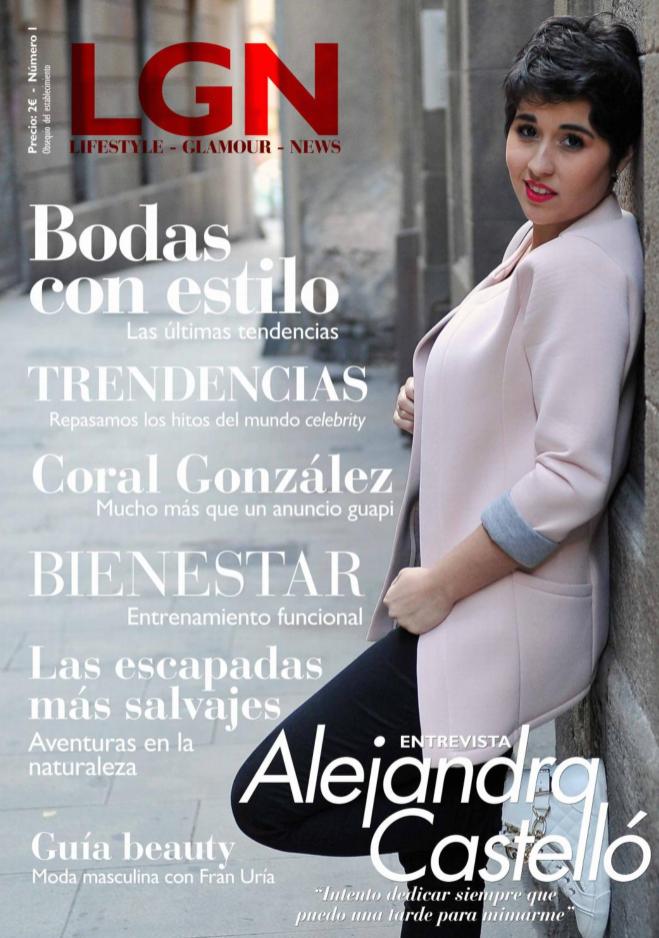 número de la revista LGN de moda y belleza