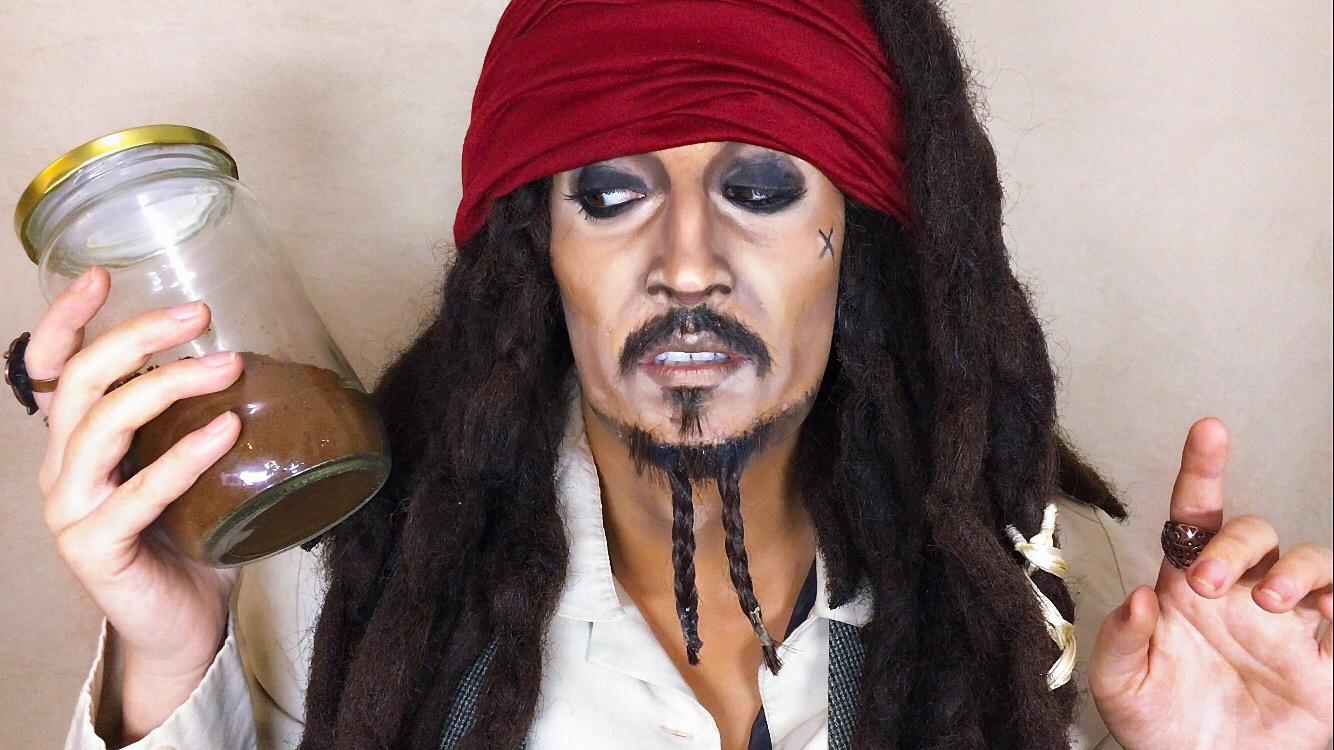 Marina Mamic convertida en Johnny Depp
