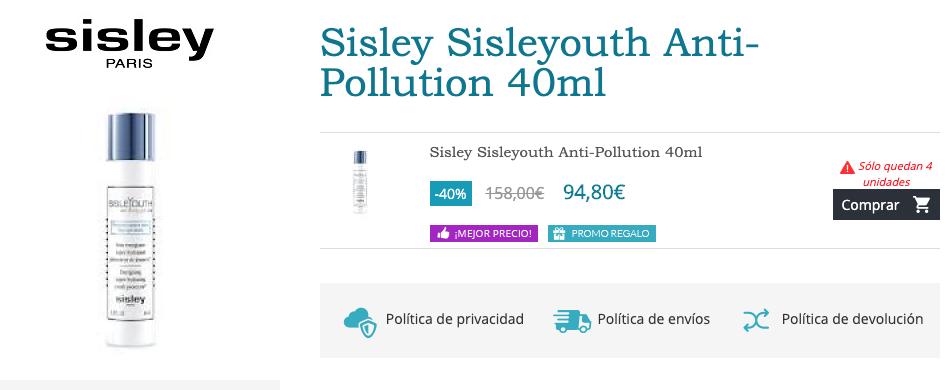 comprar sisleyouth antipolution